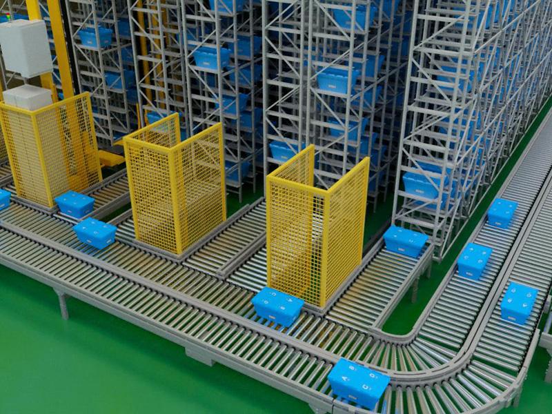 物流电商品台周转箱应用案例