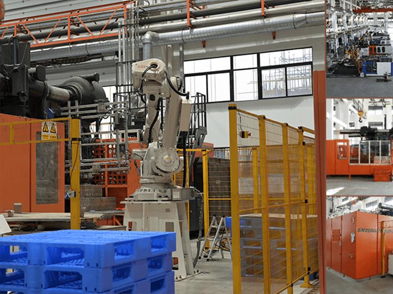 塑料托盘应用于车间工件周转