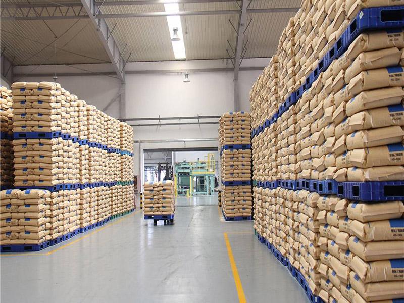 塑料托盘应用于建材行业仓储堆垛