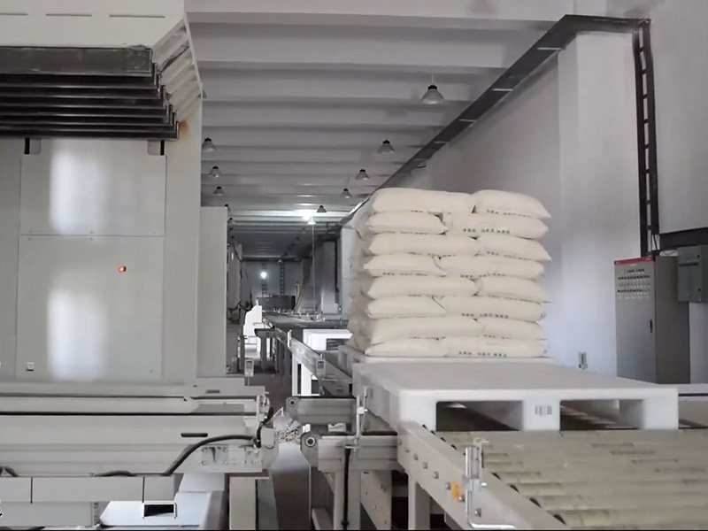 面粉厂立体库平板川字塑料托盘案例